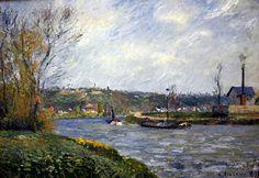 Camille Pissarro - Am Ufer der Oise, 1877