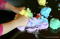 Rainbow Foam Dough