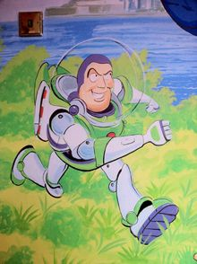 Buzz Lightyear Toy Story Childrenu0027s Mural Part 39