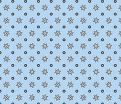 Blue gear fabric by petitspixels on Spoonflower - custom fabric