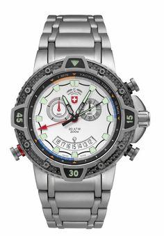"TYPHOON Silver (""2480"") CX SWISS MILITARY WATCH"