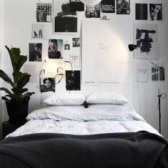 Chambre en noir et blanc | Black and white Bedroom | TheDesignerPad