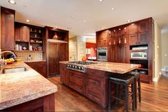kitchen center island with cooktop - Google Search