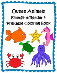 This is a cute & colorful class emergent reader about ocean animals. Pictures are fish, whale, shark, sea turtle, seahorse, crab, octopus, and starfish.   **Includes black & white printable book for students to color, cut and staple together.   **Includes picture cards for students to retell the story or to play a matching game.