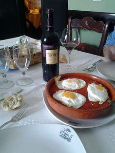 Cazuela Don Benito con Marqués de Teran especial 2009  en el restaurante Casa Rufino (Umbrete, Sevilla)