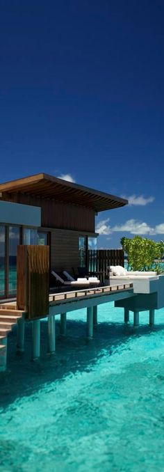 Life by the sea house above water Park Hyatt Water Villa, Maldives