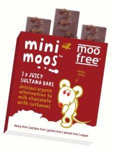Mini Barras Chocolate com Passas Moo Free 60g  Produtos Sem Glúten | SuperBio