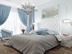 Спальня. Дизайн четырехкомнатной квартиры в ЖК «Парадный Квартал», 150 кв.м.
