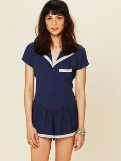 Free People Short Sleeved Pj Top at Free People Clothing Boutique
