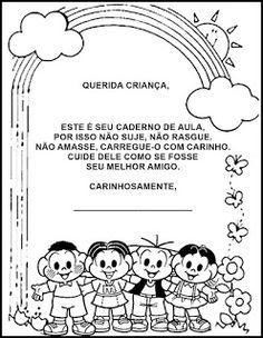 Pequenos Grandes Pensantes.: Capas para Cadernos Educação Infantil