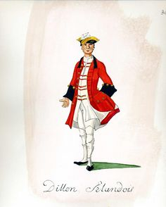 French Army 1735 - Infantry Regiment Dillon Irlandois, by Gudenus.