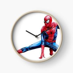 Spiderman Action Figure, Quartz Clock Mechanism, Canvas Prints, Art Prints, Hand Coloring, Action Figures, My Arts, Printed, Awesome