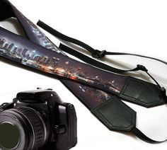 New York City Camera Strap. New York Skyline Photography. DSLR / SLR Camera Strap. For Sony, canon, nikon, panasonic, fuji and other cameras.