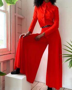 Gorgeous Vintage 80s Cherry Red Plus Size Full Length Lingerie Jumpsuit
