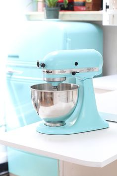 "If you've ever thought, ""what was I thinking when I picked out that color?"" while staring at your kitchen mixer, this DIY might just be for you. For around $10 you can repaint to freshen up or completely change the look of your mixer —a pretty sweet alternative to shelling out a few hundred bucks for a new machine!"
