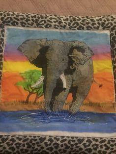 Elephant cushion cover : Completed Elephant Cushion, Cushion Covers, Cushions, Crafty, Animals, Animales, Toss Pillows, Animaux, Pillow Shams