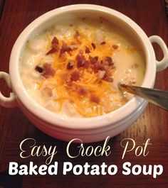 Easy Crockpot Potato Soup. Making this again tonight. It is delicious!!