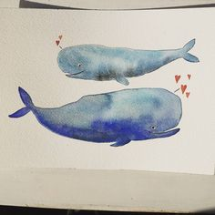 Did you know whales have the ability to experience deep love, just like humans? 💙🐳 #ifdrawaweek55 - hearts