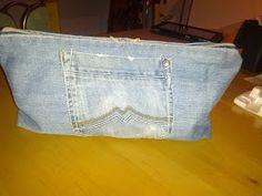 Kosmetiktasche aus Jeans