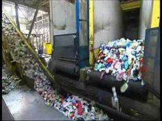 Filmpje: Achter de schermen van een afvalverwerkingsbedrijf. van PMD tot korrels voor nieuwe materialan. #afvalverwerking