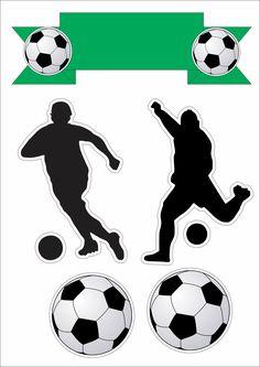 topo de bolo futebol Soccer Birthday Parties, Football Birthday, Soccer Party, Sports Day Kindergarten, Paw Print Image, Soccer Silhouette, Soccer Cake, Blue Nose Friends, Printable Designs