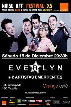 Entradas para e Noise off festival XS OFFLINE concierto de Everlyn + 2 artistas emergentes el 15 diciembre en el Organge Café de Madrid