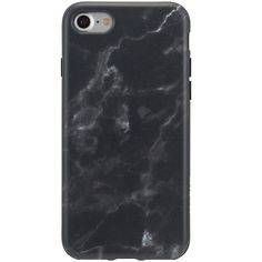 Agent18 Black Marble iPhone 7 Flexshield ($15) ❤ liked on Polyvore featuring accessories, tech accessories, black and agent 18