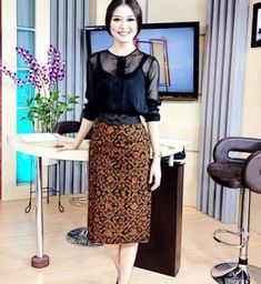 Kombinasi Dress Batik Modern