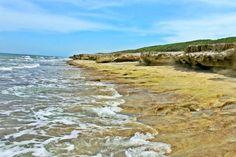 Blowing Rocks Beach in Jupiter Island, FL
