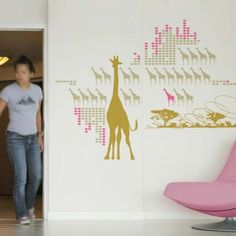 Giraffes Multiply by Mel Lim Wall Stickers