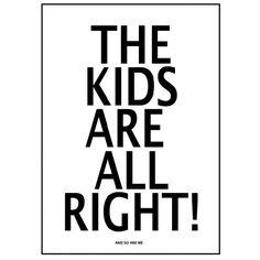 "Póster ""The Kids"" MiniWilla. http://www.decoandkids.com/es/cuadros-infantiles/146-poster-the-kids-de-miniwilla.html"