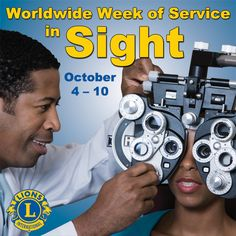 Worldwide Week of Service in Sight Lions Clubs International, Lion Poster, October 4th, Kansas City, Artwork, Target, Scrapbooking, Posters, India