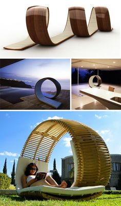 Looping Lounge Chair Wraps Like a 2-Seat Roller Coaster