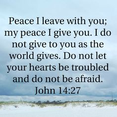 John Peace I leave with you; my peace I give you. Bible Verses About Faith, Biblical Verses, Bible Encouragement, Prayer Scriptures, Prayer Quotes, Spiritual Quotes, Inspirational Bible Quotes, Bible Verses Quotes, Faith Quotes