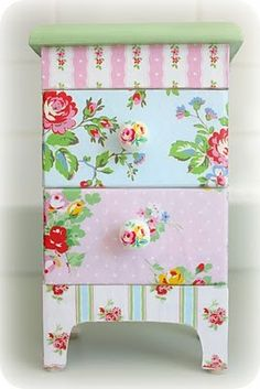 Decoupage inspiration.