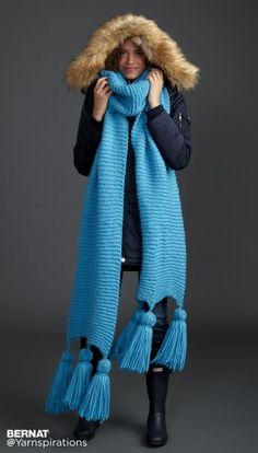 Keeping It Simple Knit Super Scarf: FREE knitting pattern| Yarnspirations