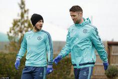 Eden Hazard and Gary Cahill