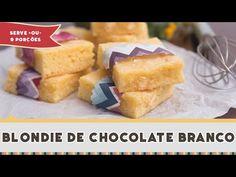 Se você nunca ouviu falar de Blondie não se sinta perdido, até um tempo atras eu não fazia ideia que o nosso amado Brownie quando usado o chocolate branco ganhava esse nome. Bom e agora que você já sabe que ele é primo do Brownie deve imaginar que só pode ser tão delicioso quanto né? E como ele é bem mais doce é
