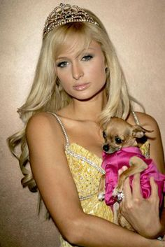 Paris Hilton and Tinkerbell the Dog