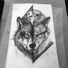 Kurt Tattoo, Tattoo P, Body Art Tattoos, Tattoo Drawings, Wolf Face Tattoo, Wolf Tattoos Men, Animal Tattoos, Viking Tattoos, Nature Tattoo Sleeve