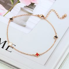 Get The Latest Fashion Jewelry  YUN RUO Fashion Rose Gold Anklet Enamel Flower Chain Charm Woman Girl Gift 316 L Stainless Steel Jewelry Top Quality Not Fade     Buy Jewelry At Wholesale Prices!     FREE Shipping Worldwide     Buy one here---> http://jewelry-steals.com/products/yun-ruo-fashion-rose-gold-anklet-enamel-flower-chain-charm-woman-girl-gift-316-l-stainless-steel-jewelry-top-quality-not-fade/    #fashion