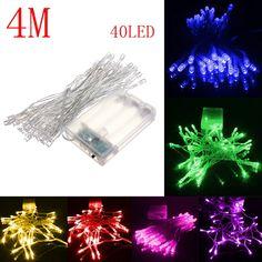 2c06383fd66 4m 40 LED con pilas fiesta de boda de la navidad la luz de hadas cadena