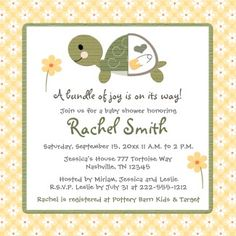 Image detail for -... Turtle Baby Shower Invitations With Turtle | Turtle Baby Shower - Mimi