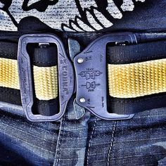 The Yellow/Black CobraTechnician Fire Hose Belt. Currently in stock for $59  Looks like you all love these things as much as I love making them #recycledfirefighter