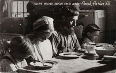 Silent Prayer Before Each Meal, Amish, Arthur, IL, Old Postcardhttp://www.ebay.com/itm/Silent-Prayer-Before-Each-Meal-Amish-Arthur-IL-Old-Postcard-/390478429996?pt=LH_DefaultDomain_0&hash=item5aea53ff2c