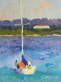 Heading Out - Day Sail, painting by artist Roxanne Steed