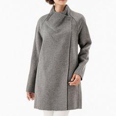 two tone sweater back coat