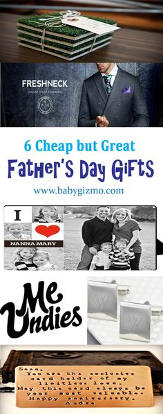 Here are 6 cheap gift ideas rounded up for Father's Day! #FathersDay #BabyGizmo