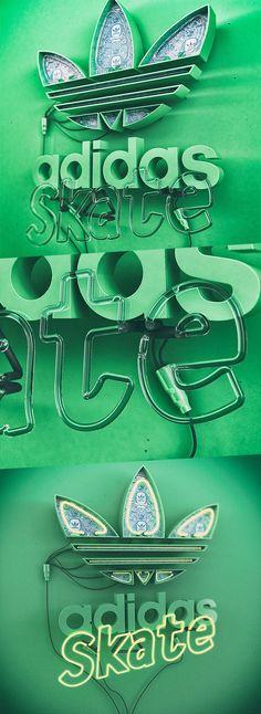Adidas Skate Neon by Katlego Phatlane. Neon Art//Neon LOVE!!