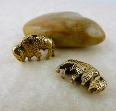 10 American Buffalo, Bison Your choice of pewter or gold beads, University of…